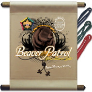 Custom Wood Badge Beaver Patrol Mini Flag (SP3253)