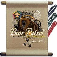 Custom Wood Badge Bear Patrol Mini Flag (SP3252)