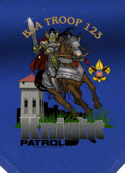 Custom Knight on Horse Patrol Neckerchief (SP2720)