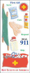 BSA First Aid 14 Sticker Sheet