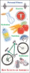 BSA Personal Fitness 14 Sticker Sheet