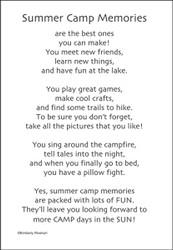 Cub Scout Summer Camp Sticker Sheet