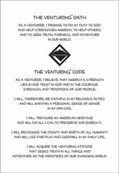 Venturing Oath Sticker Sheet