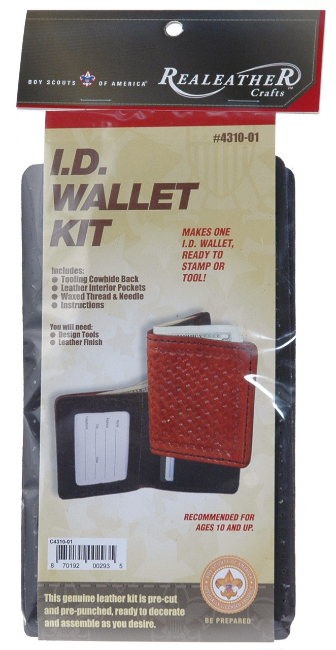 ID Wallet Leather Kit for Boy Scouts