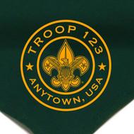 Custom Boy Scout Troop Neckerchief with BSA Logo Circle (SP6)