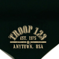 Custom Boy Scout Troop Neckerchief with Arched Troop Crest (SP5617)