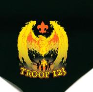 Custom Boy Scout Troop Neckerchief with Rising Phoenix (SP4384)