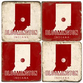 Bloomington Indiana Coaster Set.  Handmade Marble Giftware by Studio Vertu.