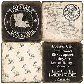 Louisiana Coaster Set. Handmade Marble Giftware by Studio Vertu.