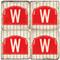 Wrigleyville Chicago Coaster Set. Handmade Marble Giftware by Studio Vertu.