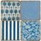 Azure Blue Coaster Set. Handmade Marble Giftware by Studio Vertu.