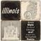 Black & White Illinois Coaster Set.  Handmade Marble Giftware by Studio Vertu.