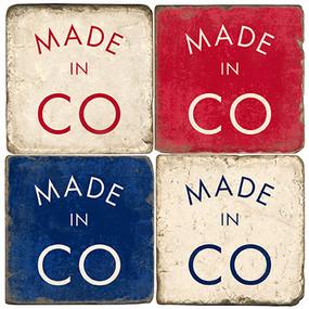 Made in Colorado Coaster Set. Handmande Marble Giftware by Studio Vertu.