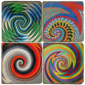 Zulu Wire Basket Coaster Set. Handmade Marble Giftware by Studio Vertu.