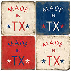 Made in Texas Coater Set. Handmade Marble Giftware by Studio Vertu.