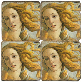The Birth of Venus Coaster Set. Handmade Marble Giftware by Studio Vertu.