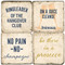 Drinking Quote Coaster Set. Handcrafted Marble Giftware by Studio Vertu.