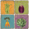 Vegetable Coaster Set. Handcrafted Marble Giftware by Studio Vertu.