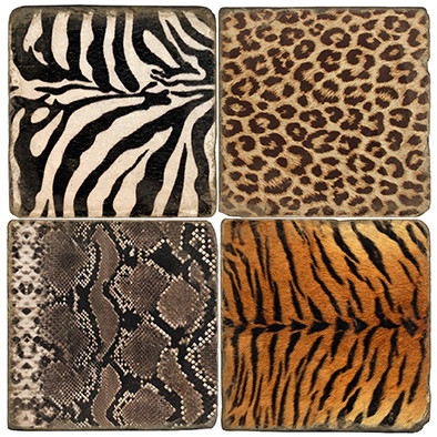 Animal Print Coaster Set