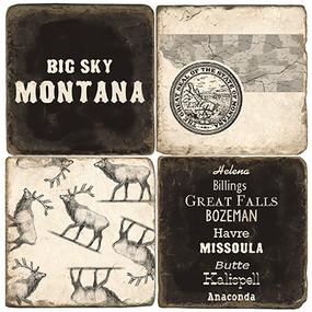 Big Sky Montana Coaster Set