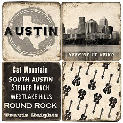 Austin, Texas Coaster Set