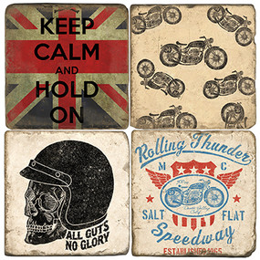 Vintage motorcycle set