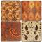 Colorful Batik pattern coaster set
