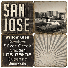 Black & White San Jose Coaster Set