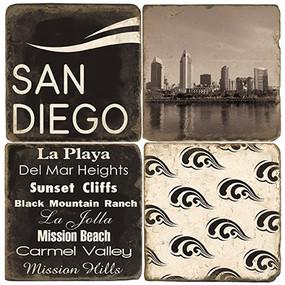 Black & White San Diego Coaster Set