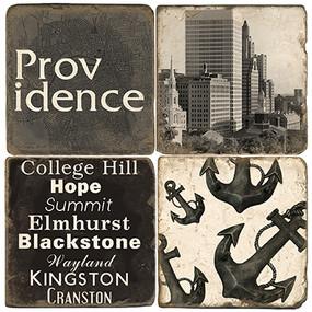 Black & White Providence Coaster Set