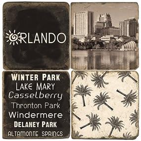 Black & White Orlando Coaster Set