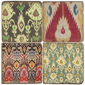 Ikat Pattered Coaster Set