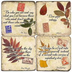 Inspirational Quotes Coaster Set