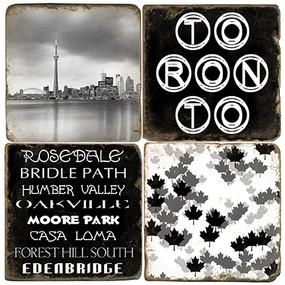 Black & White Toronto Coaster Set