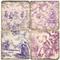 Violet Toile Pattern Coaster Set