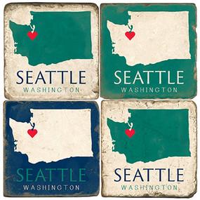 Seattle, Washington Set Coaster Set