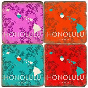 Honolulu, Hawaii Coaster Set