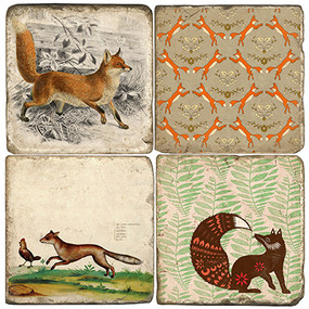 Fox Themed Coaster Set
