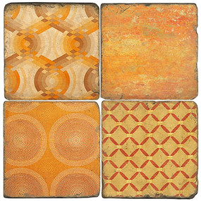 Ginger Pattern Coaster Set