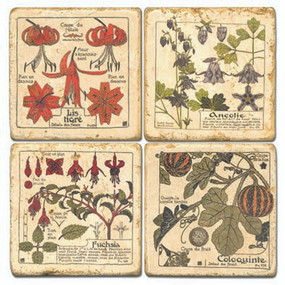 French Flower Coaster Set