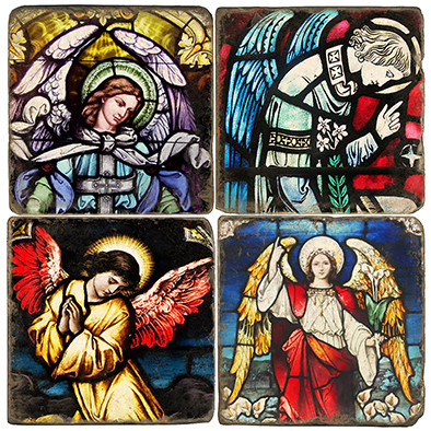 Glass Angels Coaster Set