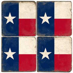 Texas Flag Coaster Set