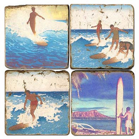Surfing Themed Coaster Set