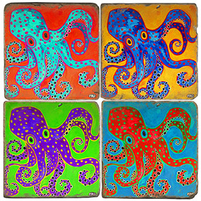 Octopus Coaster Set
