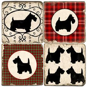 Scottish Terrier Coaster Set