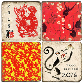 2016 Year Of The Monkey Coaster Set