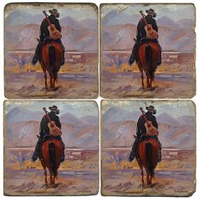 Cowboy on Horse Coaster Set