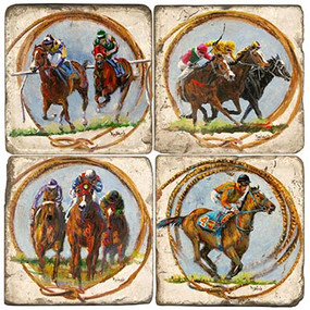 Horse Racing Coaster Set