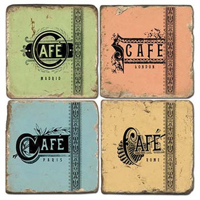 Colorful Cafe Coaster Set