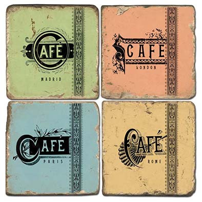 Colorful Cafe Coaster Set